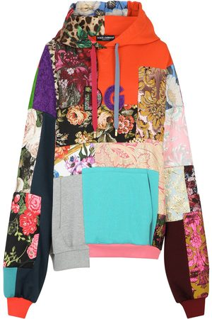 Dolce & Gabbana Patchwork jacquard hoodie