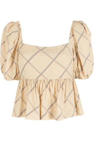 NK Printed puff sleeves blouse