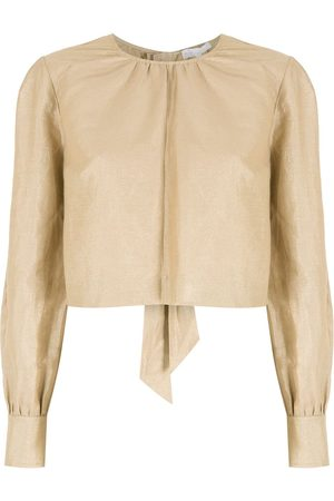 NK Tied long sleeves blouse - Neutrals