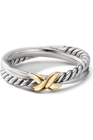David Yurman 18kt yellow gold X cable ring