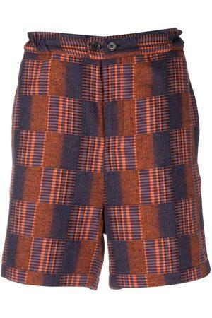HENRIK VIBSKOV Men Bermudas - Check knee-length shorts