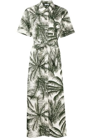 P.a.r.o.s.h. Palm tree print shirt dress