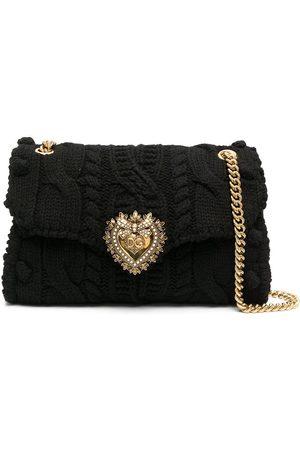 Dolce & Gabbana Medium Devotion knitted shoulder bag