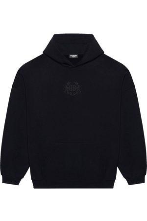 Balenciaga Logo crest-embroidered hoodie