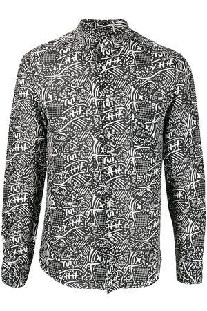PENINSULA SWIMWEAR Basiluzzo abstract print linen shirt