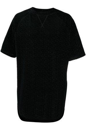 Balmain Velvet-effect motif-pattern top