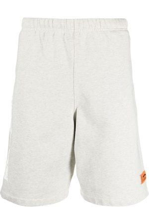 Heron Preston Men Sports Shorts - SWEATSHORTS HP WARPED GREY MELANGE WHITE