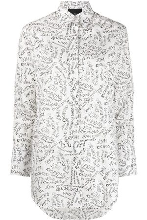 John Richmond Logo-print long-sleeve shirt