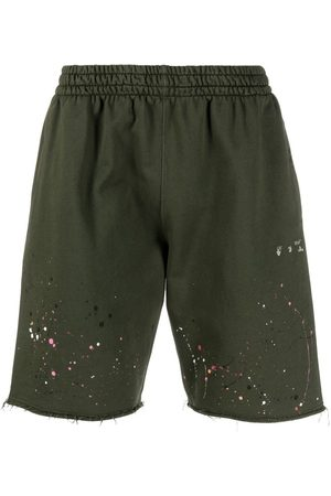 OFF-WHITE Vintage paint splatter sweat shorts