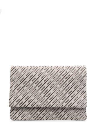 AMBUSH All-over logo canvas laptop bag - Neutrals