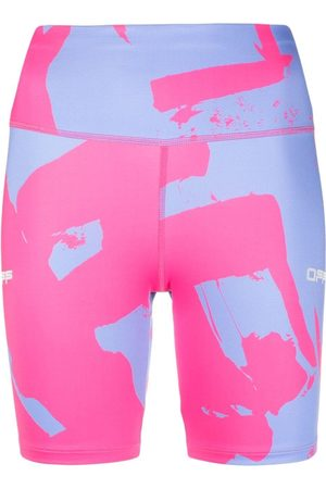OFF-WHITE Printed compression cycling shorts