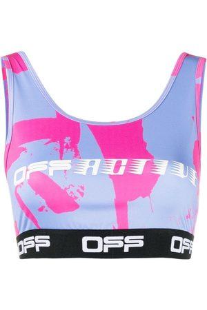 OFF-WHITE Women Sports Bras - Logo-print sports bra