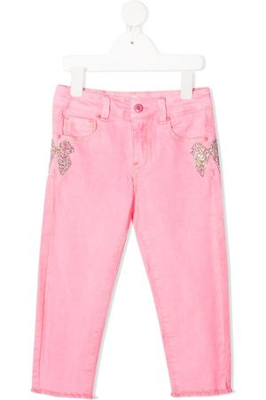 Billieblush Girls Skinny - Glitter bow skinny jeans