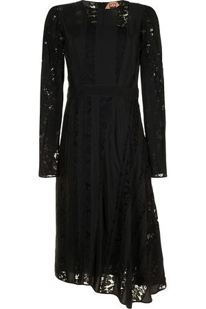 Nº21 Lace-panel long-sleeve dress