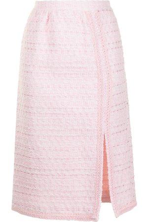 Giambattista Valli Side-slit embroidered pencil skirt