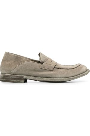 Officine creative Lexikon/516 suede penny loafers - Grey