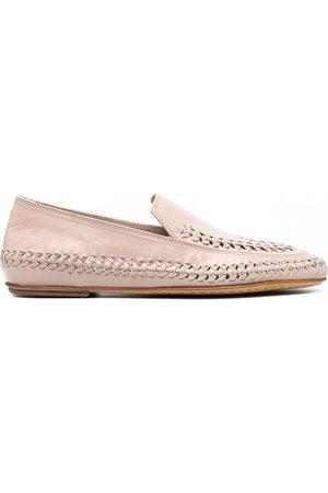 Officine creative Bessie woven leather loafers - Neutrals