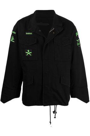 SANKUANZ Cotton patch-detail jacket