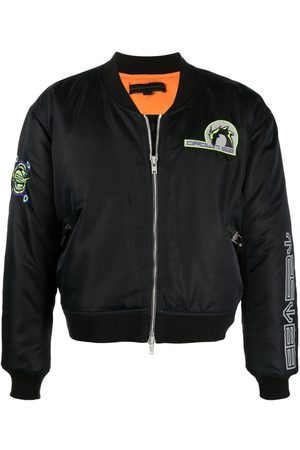 SANKUANZ Logo-patch bomber jacket