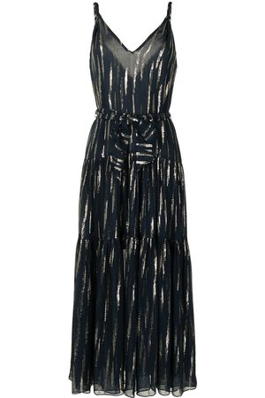 MANNING CARTELL Metallic print maxi dress