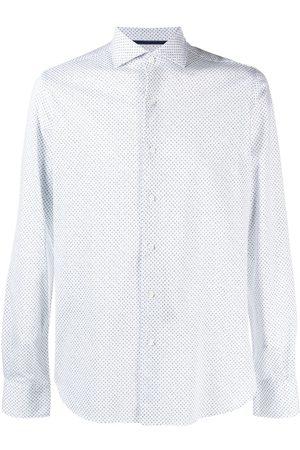 Orian Micro-flowers print cotton shirt
