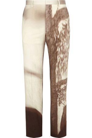Fendi Printed slim-fit trousers - Neutrals