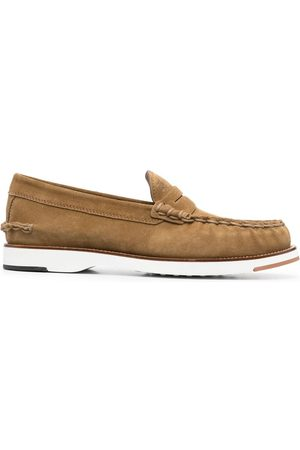 Tod's Contrasting sole penny loafers - Neutrals