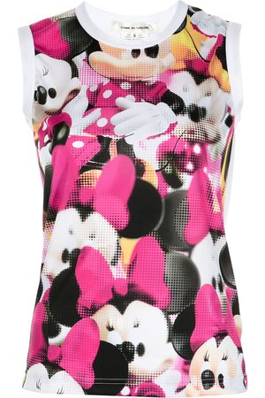 Comme des Garçons Minnie Mouse-print sleeveless top