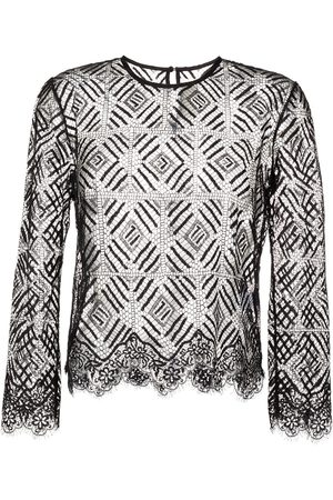 Michelle Mason Three-quarter length sleeved lace top