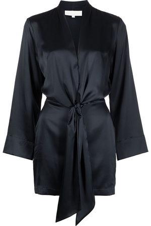 Michelle Mason Women Party Dresses - Kimono-tie mini silk dress