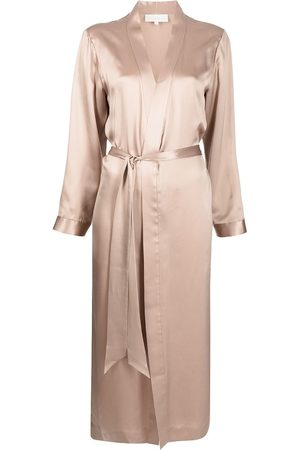 Michelle Mason Silk side-slit robe