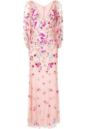 Jenny Packham Women Evening dresses - Sugar Sweet plunge-neck gown