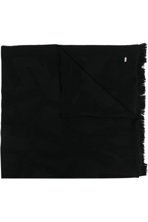 Saint Laurent Monogram plaque wool scarf