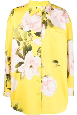 VALENTINO Floral print shirt mini dress
