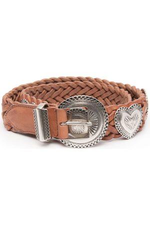 Golden Goose Interwoven leather appliqué belt