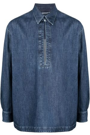 VALENTINO Men Denim - Denim collared shirt