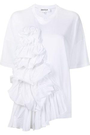 ENFÖLD Women T-shirts - Ruffled-detail T-shirt