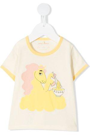 Mini Rodini T-shirts - Unicorn and ramen-print T-shirt