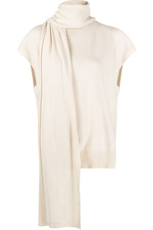 Loulou Studio Scarf-neck jumper - Neutrals