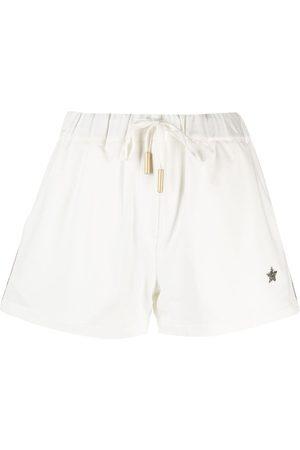 LORENA ANTONIAZZI Star-embellished track shorts - Neutrals