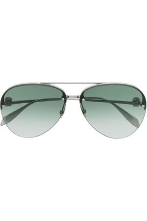 Alexander McQueen Aviators - Skull charm aviator-frame sunglasses