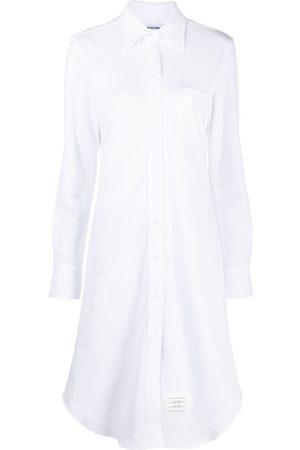 Thom Browne Women Casual Dresses - Cotton-piqué shirt dress