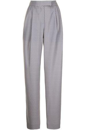 Emporio Armani Check-print trousers - Grey