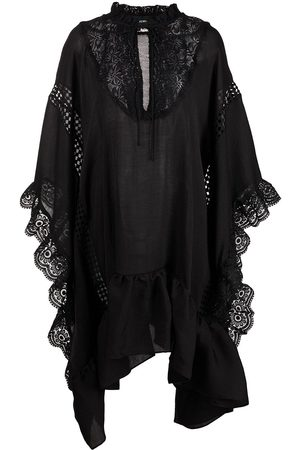 Cynthia Rowley Skyler lace-trim kaftan dress