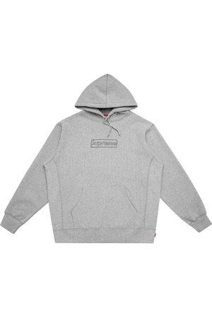 Supreme Kaws Chalk logo hoodie - Grey