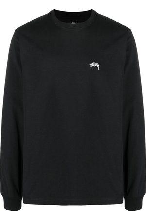 STUSSY Men Long Sleeve - Embroidered-logo longsleeved top