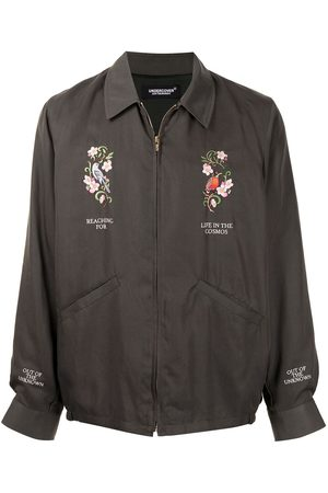 UNDERCOVER Embroidered zipped windbreaker