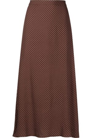 Reformation Bea dotted midi skirt