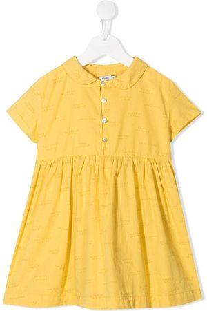 KNOT Girls Printed Dresses - Manifesto-print dress