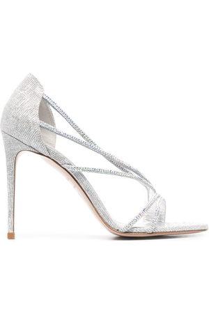 LE SILLA Women Sandals - Divina glitter-effect sandals - Grey